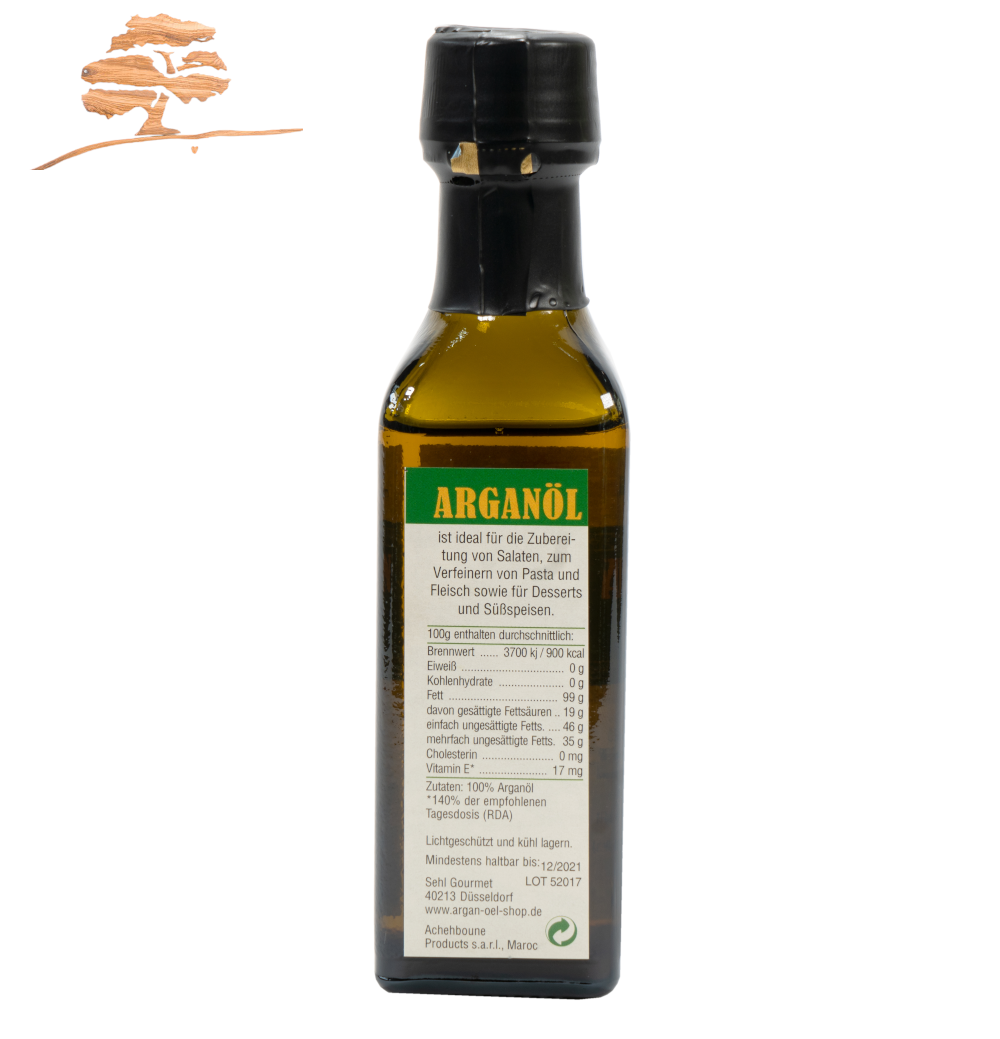 Original Argan Speiseöl, 100 %  reine Qualität, 100 ml